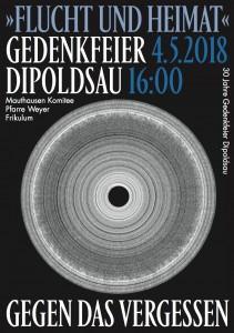 Plakat Gedenkfeier 2018